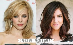 Shoulder-length layers